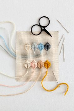 Embroidery for Beginners Pattern Simple Cross Stitch Options - Learn Embroidery, Hand Embroidery Stitches, Embroidery For Beginners, Embroidery Techniques, Embroidery Art, Cross Stitch Embroidery, Embroidery Designs, Broderie Simple, Diy Broderie