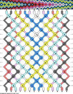 Friendship-bracelets.net : Thousands of patterns for friendship bracelets, from…