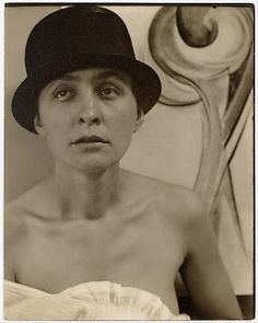 Georgia O'Keefe, photographed by Alfred Stieglitz.