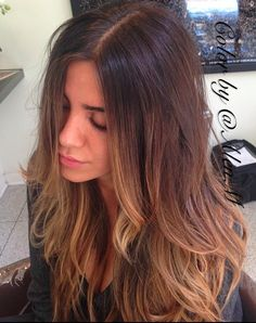 #summer #brunette, #highlights, #balayage. #layered