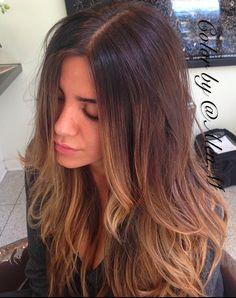 #summer #brunette, #highlights, #balayage. #layered