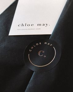 May via : Branding for Chloe May via for Chloe May via : Branding for Chloe May via Minimalistic Circle Logo Wrapped with love, always 💌 custom luxury cardboard matte black box with golden Decorative paper forCh Logo Luxe, Flat Design, Web Design, Luxury Logo Design, Inspiration Logo Design, Cupuacu, Restaurant Logo, Chloe, Name Logo