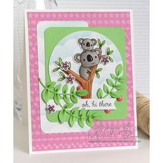 Totally in love with these cute koalas from Reverse Confetti. Using Intro to Coloring with Copic Markers for tips on coloring wood. #reverseconfetti #papercrafts #cleanandsimple #coloring #copics #copicmarkers #copiccoloring #markers #crafts #crafting #handmade #handmadecards #diy #diycard  #diecutting #onmyblog