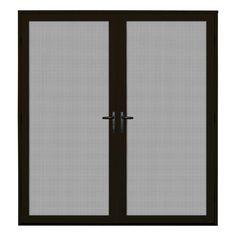 Unique Home Designs 64 in. x 80 in. Bronze Surface Mount Meshtec Ultimate Screen Door-5V0002UL0BZ00B - The Home Depot