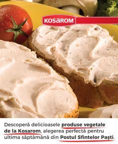 Descoperă delicioasele produse vegetale de la Kosarom. Fără colesterol, săţioase şi uşor de digerat, sunt o excelentă alternativă a produselor din carne, și alegerea perfectă pentru ultima săptămână din Postul Sfintelor Paști. #kosarom #savureazadiferenta #produsevegetale #produsedepost