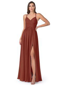 Classic Bridesmaids Dresses, Bridesmaid Dress Colors, Azazie Bridesmaid Dresses, Chiffon Dress, I Dress, Custom Dresses, Different Fabrics, Formal Dresses, Wedding Dresses