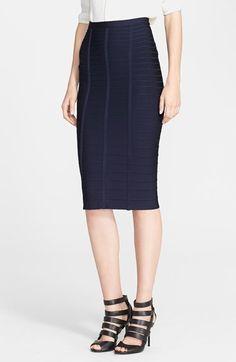 083fb84e1 Herve Leger Bandage Midi Skirt Fashion Mag, Herve Leger, Skirt Outfits,  Midi Skirt