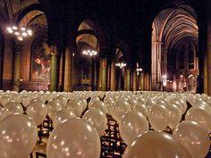 Eleonora Aguiari - église Saint German des Pres - nuit blanche - Paris - 2010