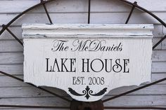 CUSTOM LAKE HOUSE Beach House CABIN Signs Cottage 14X24