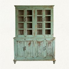 Distressed Wood Cabinet. Hold china or craft stuff.