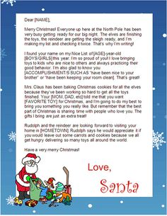 Print free Santa letters at home! **Did this and the letter is actually free