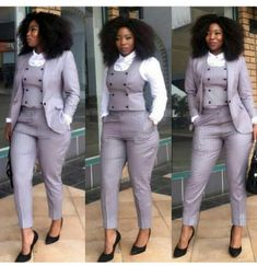 Office Outfit for Ladies - business professional outfits offices Office Outfits For Ladies, Classy Work Outfits, Chic Outfits, Casual Office Wear, Office Chic, Office Style, Corporate Wear, Suit Fashion, Work Fashion
