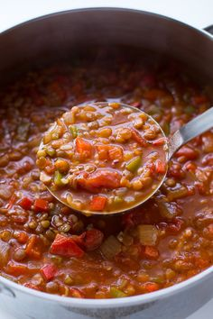 Lentil Stuffed Pepper Soup