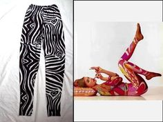 Emilio Pucci Vintage 1960's Signed Zebra Safari Footless Tights Pants Leggings M | eBay
