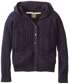 Eddie Bauer Big Girls V Neck Cardigan Sweater with Hood, Hooded cardigan sweater. V Neck Cardigan, Hooded Cardigan, Sweater Cardigan, Eddie Bauer, 16 V, Girls Sweaters, Skort, Fashion Brands, Girl Fashion