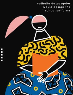 If I lived in Ettore Sottsass' Neighborhood — Lauren Rolwing Cut Paper Illustration, Portrait Illustration, Nathalie Du Pasquier, Memphis Design, Site Design, 80s Design, Layout Design, Art Journal Inspiration, Design Inspiration