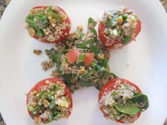 Tuna Stuffed Tomatoes from pg 128 in my newest book S.A.S.S! Yourself Slim