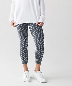 Lululemon High Times Pant Metallic Lunatrix Heathered Deep Coal Silver