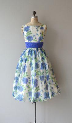 Delta Blues dress vintage 1950s dress floral 50s by DearGolden