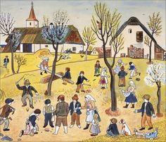 Josef Lada1 (378 pieces) Jig Saw, Grandma Moses, April Easter, Quentin Blake, Henri Rousseau, Naive Art, Outsider Art, Typography Prints, Jaba