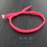 Bracelet lien tresse uni, à porter seul ou à plusieurs…Création française Sab