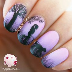 Epic love story: chapter 2 - #lovestory #nailart #nails #fallinginlove #piggieluv - bellashoot.com