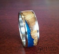 Choice of 316 Stainless Steel or Titanium. Choice of 316 Stainless Steel or Titanium. Wedding Ring For Him, Custom Wedding Rings, Wedding Bands, Coin Ring, 316 Stainless Steel, Wood Resin, Wood Rings, Wooden Jewelry, Rings For Men