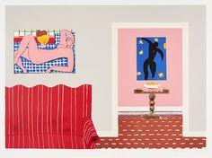 Sam Nhlengethwa, Tribute to Henri Matisse, 2013 - Romare Bearden, South African Artists, Henri Matisse, Contemporary Interior, Artist At Work, Illustrations Posters, Artwork, Inspiration, Inspired