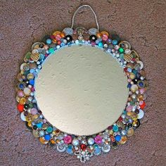Old button and jewelry mirror surround