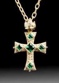Resultado de imagem para emerald cross pendant