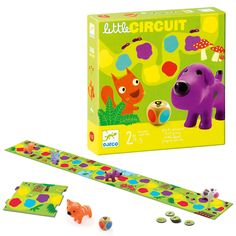 If you are looking for a first board game – this is it! Using the colour dice and their colour matching skills, your child must move their cute, chunky animal along the path, competing against other players to get to the end first. Some of the many benefits of board games are that children learn how to take turns, win and lose. It's a quick game giving you 10 minutes in a busy day to connect with your little one. AGE: 2 – 4 yrs PLAYERS: 2 -4 BRAND: Djeco Quick Games, School Games, School Readiness, Giving, Dice, Kids Learning, Your Child, Circuit, Puzzles