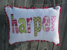personlized pillow for nursery!