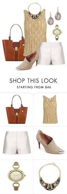 """""""Dressing Up Summer"""" by vingananee ❤ liked on Polyvore featuring Brahmin, M.Patmos, Valentino, Sigerson Morrison, Oasis, Carolee LUX and Alexis Bittar"""