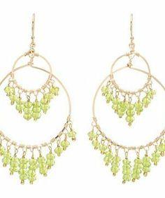 NUNU Gold Peridot Double Circle Chandelier Earring #accessories  #jewelry  #earrings  https://www.heeyy.com/suggests/nunu-gold-peridot-double-circle-chandelier-earring-gold-peridot/