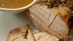 Slow Cooker Pork Loin in Apple Cider, Mustard and Thyme recipe