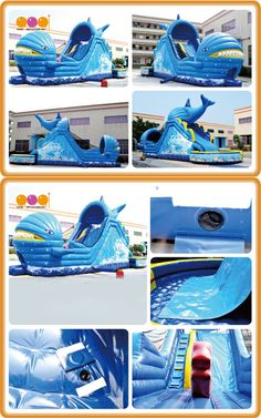 Cetacean Slide( AQ13912*3.5*6m / 40'*11'*20') Summer is coming.inflatable sides are something that would make the kids love playing within the backyard. During summer heat, you can simply install it inside the garage or perhaps a covered porch.  We are your best choice.