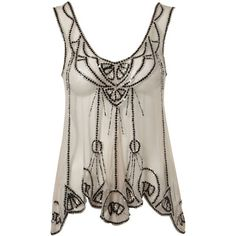 Lipsy Deco Beaded Swing Top ($63) found on Polyvore (This top is sold out but I pinned it anyway so I can remember to watch for it on Ebay)