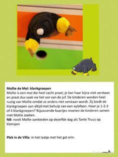 Mollie de mol/ klankgroepen/Slome Slak.