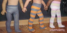How to make 18-inch doll tights from knee-high stockings. Tutorial.