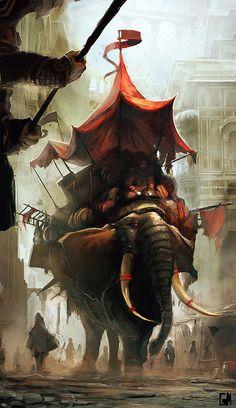 Battle elephant.