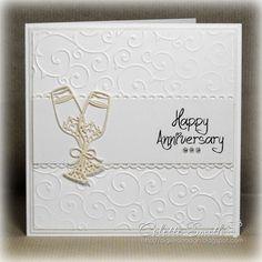 Digi-re-doo-dah: Champagne glasses anniversary card