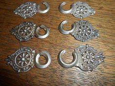 antike Miederhaken echt Silber, alte Miederhaken 6 Stück
