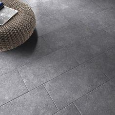 Carrelage intérieur en grès cérame émaillé Loggia, gris galet n°, 30x60cm | Leroy Merlin