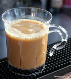 """Hot Salted Caramel drink at Epcot's Prost! Kiosk. """"Straight up melted caramel with the perfect hint of saltiness"""" says Disney Food Blog. LOVE Caramel!!!"""