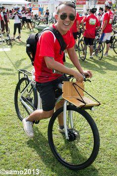 Vanmoof 3.2 at OCBC cycling event in Kuala Lumpur ,Malaysia .