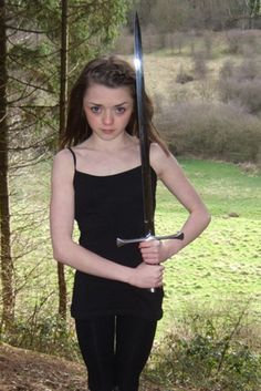 Maisie Williams and Needle.  She reminds me of a young Chelsea!