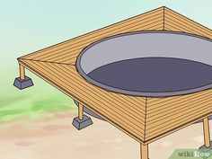 How to Build a Deck Around an Above Ground Pool. When you build a deck around an above-ground pool, you instantly increase the value, attractiveness and functionality of your. Above Ground Pool Steps, Above Ground Pool Landscaping, In Ground Pools, Pool Deck Plans, Deck Building Plans, Easy Deck, Cool Deck, Decks Around Pools, Swimming Pool Decks