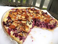 blueberry goat cheese pie (adapted from 3 sisters cafe - featured on triple d)