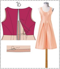 Sewing Lesson: A-Line Cocktail Dress 122 03/2016 #burdastyle #sewing #pattern #sew #diy #style
