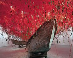 chiharu shiota weaves an immersive labyrinth of keys and yarn - Japan pavilion, venice art biennale 2015